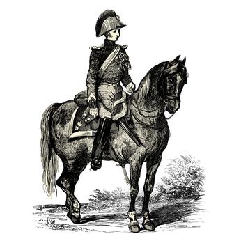 Le gendarme à cheval
